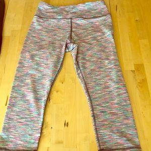 Capri multi color workout leggings